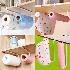 Under Cupboard Unit Shelf Kitchen Paper Towel Roll Holder Hanger Storage Rack .