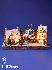 Christmas Light up Traditional Village Scene Queen Vic Pub Decoration LED