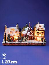 Noël pré-éclairé village scene queen vic pub 3D light up décoration ornement