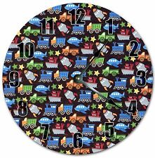 "10.5"" DIFFERENT VEHICLES CLOCK - KIDS CLOCK - Large 10.5"" Wall Clock - 4040"