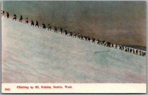 "c1910s Mount Rainier National Park Postcard ""Climbing Up Mt. Rainier"" PCK Unused"