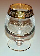 MURANO MEDICI schöne alte Gläser Cognacschwenker Goldrand
