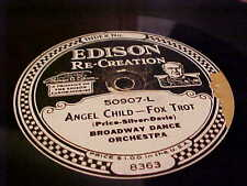 EDISON 10 In. RECORD/DISC #50907 PHIL OHMAN'S & BROADWAY DANCE ORCHESTRA'S