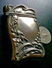 ANTIQUE STERLING SILVER MATCH SAFE BY FUCHS & BEIDERHASE