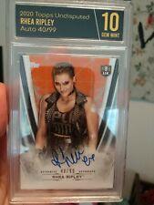 2020 Topps WWE Undisputed Rhea Ripley Auto 40/99 GSG Graded Gem Mint 10