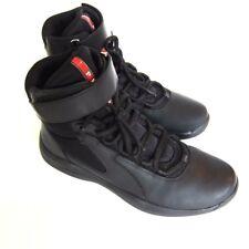 J-2385244 New Prada Calzature Uomo Black Hi Top Sneakers Shoes Size 6 US 7