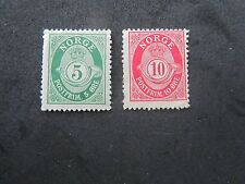 Norway, 1910 & 1922, Mint/Poor, sold as space fillers, #77 & 80