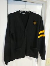 ST. URSULA ACADEMY DARK NAVY & GOLD SIGNATURE CARDIGAN - SIZE YOUTH XL (18-20)