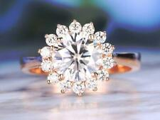 Engagement 10K Yellow Gold All Size 2.87 Ct Near White Round Moissanite Ring