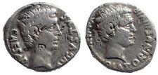 Augustus, with Agrippa (13 BC). Denarius. Very Rare.