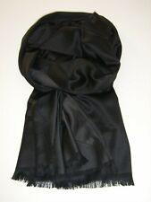 Eleganter Seiden Schal für Herren, Schwarz-Grau, lässige Eleganz mit 100 % Seide