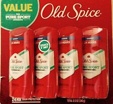 Old spice high endurance deodorant, pure sport 4/3.0 Oz 24-hour odor protection