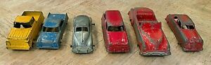 LOT OF 6 VINTAGE TOOTSIE TOY DIECAST CARS AND TRUCKS