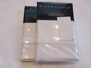 2 Ralph Lauren Bedford Sateen 800TC euro shams White $370