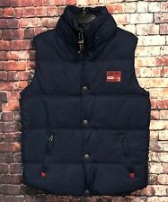 SuperDry Company Puffer Vest Athletic Edition Tokyo 5 Men's M Blue/Red