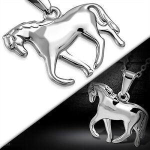 Horse Pendant Stainless Surgical Steel Hypoallergenic 2 Sided