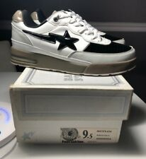 80d942988673e7 A Bathing Ape Bape Bape Sta Roadsta FootSoldier Sz US 9.5 WHITE GRAY KYOTO  CITY