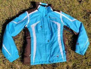 SPYDER XLT Thinsulate Ski Snow Full Zip Jacket Coat Blue/Brown Womens Size 8