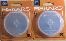 FISKARS 60MM ROTARY BLADES 10 PIECES - 03-008725R1 NEW, NEVER OPENED