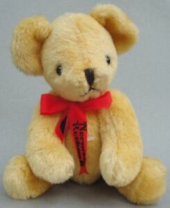 Deans UK Norman Rockwell Teddy Bear Blond Mohair Plush 12in LE Repro '82 Jointed