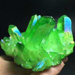 Natural Green Crystal Quartz Cluster Stone Healing Specimen for Office Home Gift