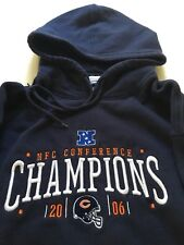 Chicago Bears NFC Champions 2006 Hoodie Reebok Men s L Size Large ba7532c55