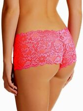 Kayser Brazilian Boyleg Panties Sizes 8 & 14 Sexy Lace Lingerie Briefs Pink