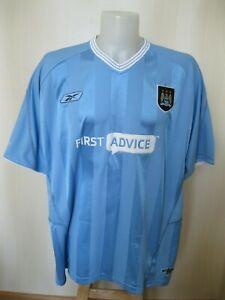 Manchester City 2003/2004 Home Size 2XL Reebok shirt jersey soccer football XXL