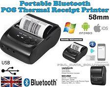 POS-5802DD Mini Portable Bluetooth USB Thermal Printer POS Android iOS Windows