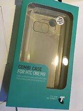 HTC ONE M9 TPU Combi Protector Case in Clear TELBMT0062. Brand New & Sealed pack