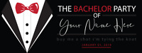 """Bachelor Party Banner Personalized with Text Party Decorations Backdrop 18""""x4'"""