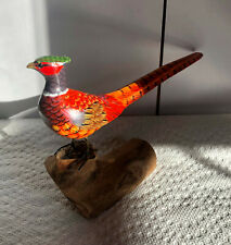 WOOD BIRD- PHEASANT HAND CARVED AND PAINTED-6'