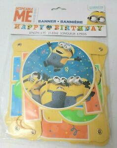 Despicable Me Minions Happy Birthday 6FT Hanging Banner Party Decoration P3-5