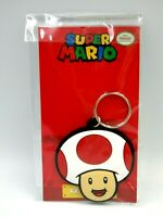 NINTENDO Keychain Super Mario porte-clés caoutchouc TOAD 6 cm Neuf Key ring