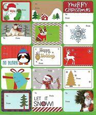 Christmas Peel N Stick 15 Mini Gift Tags