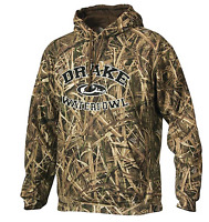 Drake Waterfowl Collegiate Hoodie Sweatshirt Shadow Grass Mossy Oak Blades DW224