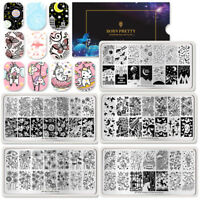 BORN PRETTY Nail Art Stamping Plates  Flower Butterfly Image Stencil DIY