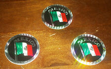 3 Older Prism Stickers Circular - Mexico Flag