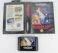 SEGA Genesis Wonder Boy In Monster World Game Cart & Case Side Scroll Action RPG