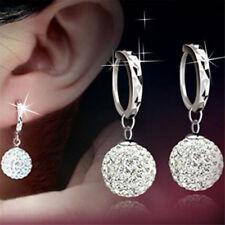 Women Luxury Rhinestone Full Diamond Bling Crystal Shamballa Earrings Ear Stud