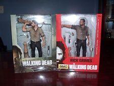 "Lot of (2) The Walking Dead Rick Grimes 10"" Action Figures"