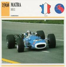 1968 MATRA MS11 Racing Classic Car Photo/Info Maxi Card
