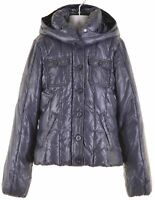 BENETTON Girls Padded Jacket 11-12 Years 2XL Navy Blue Polyester  JN08