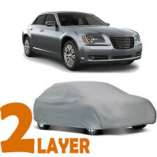 TRUE 2 LAYERS GRAY FITTED CAR COVER SUN OUTDOOR WATER RESISTANT for CHRYSLER 300