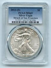 2013 (S) $1 American Silver Eagle Dollar 1oz PCGS MS69