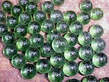 "50 CHAMPION 5/8"" (+or -) GREEN TRANSPARENT MARBLES $3.99 !!"
