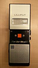Registratore riproduttore vintage microcassette a transistor LILLIPUT + custodia