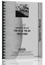 Ford TW 10 Tractor Operators Manual (1978-1980)