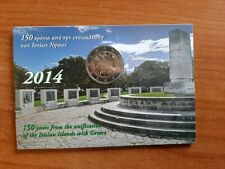 GRIEKENLAND GREECE HELLAS COINCARD 2 EURO 2014 150 YEARS IONIAN