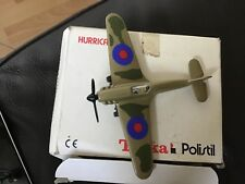 DIECAST MINI MODEL HURRICANE . TONKA POLISTIL AIRCRAFT IN LOVELY MINT CONDITION